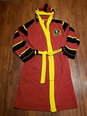 Harry Potter  Multi-Color Hooded Bath Robe Small/Medium Embroided Gryffindor