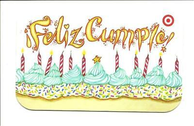 Target Feliz Cumple Candles Birthday Cake Gift Card No Value Collectible 1816