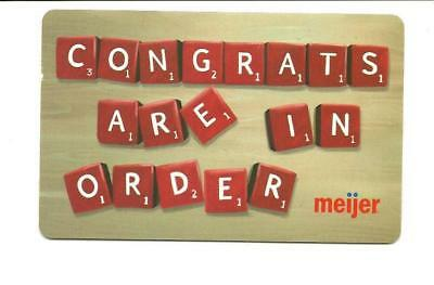Meijer Scrabble Congrats Are In Order Gift Card No $ Value Collectible