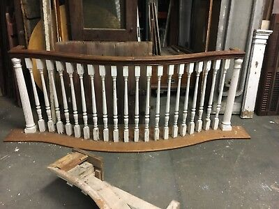 "c1900 Georgian colonial balcony rail under floor pediment 8' x 34"" Greenwich CT"