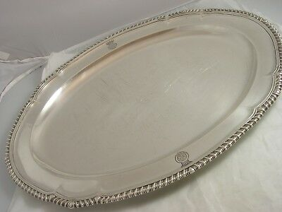 Superb 1840 Victorian Silver Huge Meat Plate Royal Lancashire Regt 2846 grams