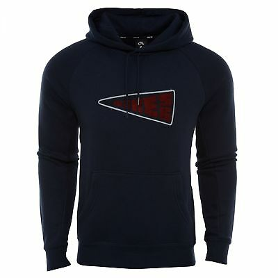 4723e2bf0 Nike SB Icon Banner Hoodie Mens 860116-451 Obsidian Pullover Hoody Size XL