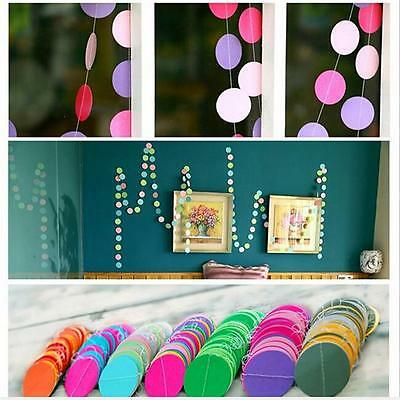 Glitter Circle Round Paper Garland Banner Polka Bunting Wedding Party Decor AL