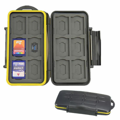 Water-resistant Shockproof Storage Memory Card Case fit 12 SD +12 Micro SD Cards