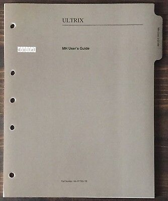 Digital DEC ULTRIX MH (Mail) User's Guide 1991