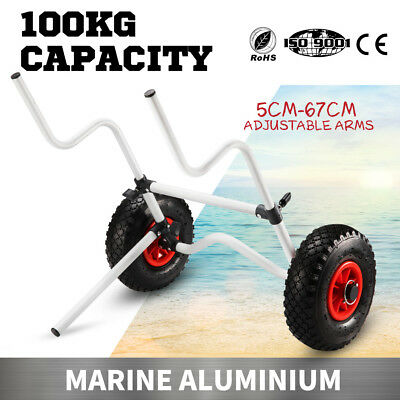 Kayak Trolley Foldable Canoe Aluminum Collapsible Wheel Cart Boat Carrier 100KG