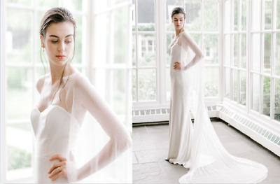 Chiffon Wedding Cape Bridal Cloak Jacket White Ivory Accessories for Girls Plus