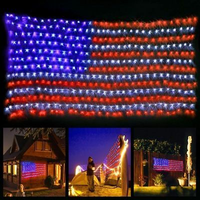 2x American 420LED Super Bright Led Flag Light  Waterproof Outdoor Decor Garden