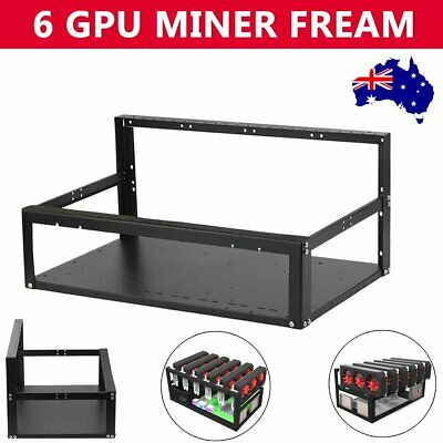 Open Air Mining Miner Frame Drawer Rig Case up to 6 GPU ETH BTC Ethereum AUS