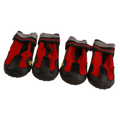 4Pcs Pet Dog Non-slip Sole Waterproof Hiking Sneakers Boots Climbing Shoes