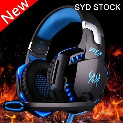 EACH G2000 Pro Game Gaming Headset USB 3.5mm LED Stereo PC Headphone KEF3