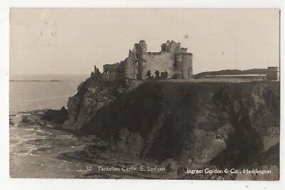 Tantallon Castle East Lothian 1928 RP Postcard Ingram Gordon 860b