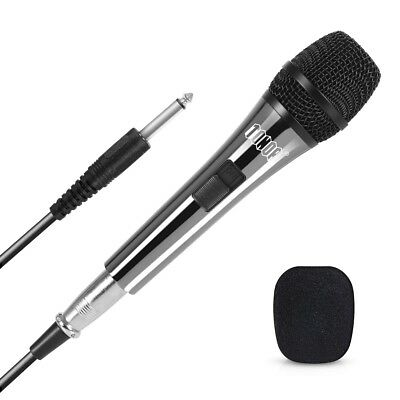 Professional Wired Dynamic Vocal Studio Microphone HandHeld Mic with XLR 3 Pin