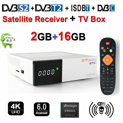GTMEDIA GTC Android DVB-S2/T2/Cable/ISDBT 2+16G S905D H.265 Satellite Receiver