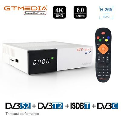GTMEDIA GTC Android 6.0 4K TV BOX DVB-S2/T2/Cable/ISDBT 2+16G Satellite Receiver