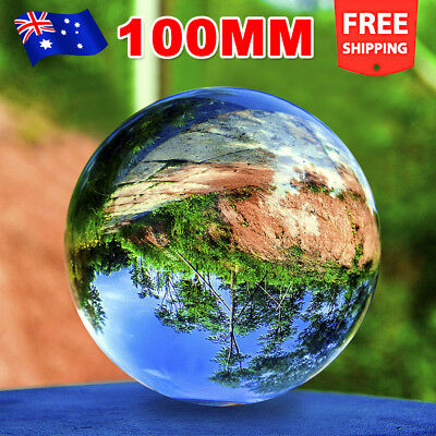 100MM Clear K9 Crystal Photography Lens Ball Photo Prop Background Home Decor OZ