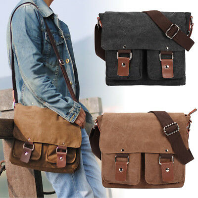 Large Canvas Digital DSLR Camera Messenger Military Shoulder Bag For Canon Nikon