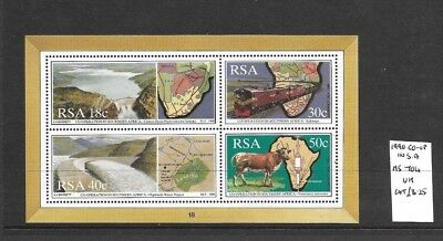 South Africa 1990 Cooperation min sheet MNH
