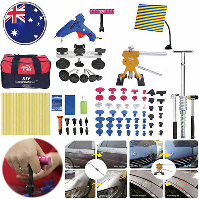 95PC Car Paintless Hail Removal Dent Puller Lifter  LED Line Board Repair Tools