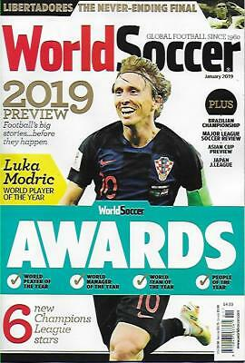 WORLD SOCCER- January 2019 issue (NEW) *Post included to UK/Europe/USA/Canada