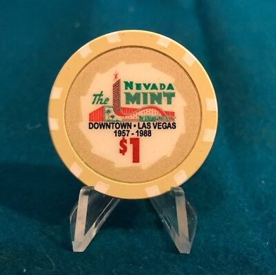 Mint Hotel, $1.00 Fantasy Casino Chip - Downtown Fremont St.  Las Vegas, Nevada