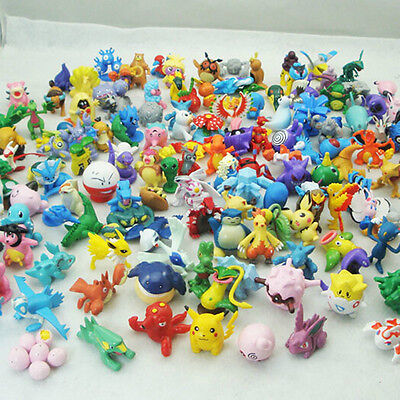 144PCS Cute Pokemon go Mini Random Wholesale Lots Pearl Figures New for Kids Toy