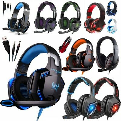 3.5mm Gaming Headset Mic Headphones Stereo Surround for PS3 PS4 Xbox ONE 360 LOT