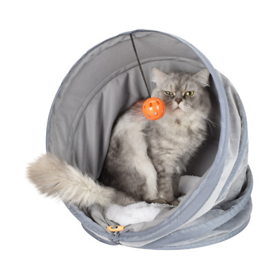 Cat Bed Pet Cat Tunnel Warm Puppy Foldable Kennel Soft