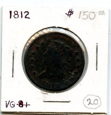 1812 Classic Head Large Cent Coin!!!!!!!...starts @ 2.99