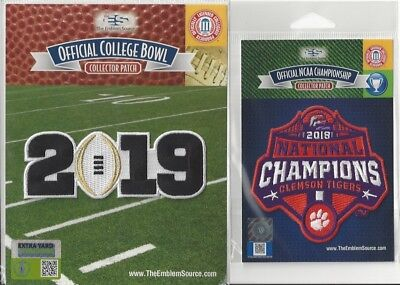 2018 Clemson Tigers National Champions Patch Combo 2018 Champs 2019 CFP White