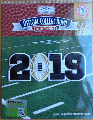 2019 College Football Playoff National Championship Patch White Football Clemson