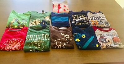 ~LOT Of (11)~Boys 5 And 5/6 Long Sleeve Crew Neck T-Shirts Cotton Multi Brands