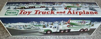 2002 HESS Toy Truck and Airplane, Sold Out, Brand New