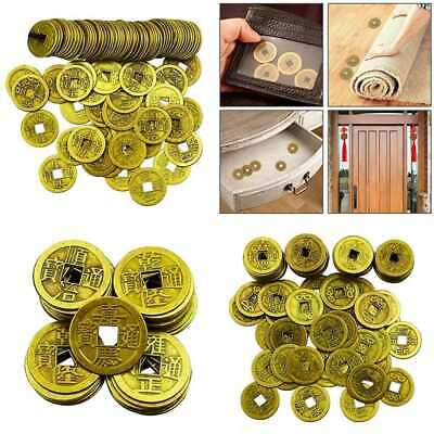 """100 PC 1"""" Chinese Fortune Coins Feng Shui I Ching Good Luck Ancient Dynasty Time"""
