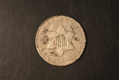1851 Three Cent Silver 2c VG Very Good #RB3-6027