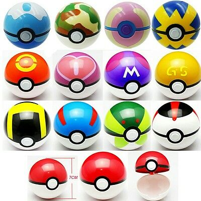 Pokemon Go Pokeball Cosplay Pop-up 7cm Plastic BALL for Monster Kids Toys Gift