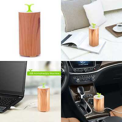 Essential Oil Diffuser For Car Waterless Mini Wood Grain Aromatherapy Just Or SM