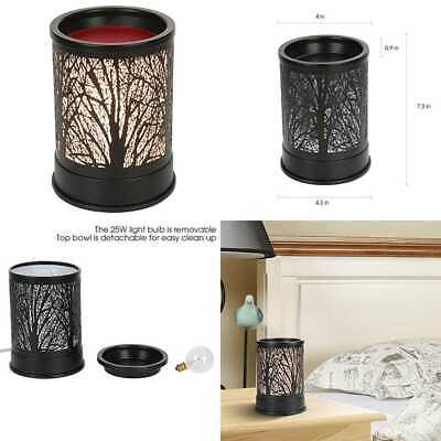 Wax Melts Candle Warmer Classic BLACK Metal Forest Design Fragrance Oil Lamp For