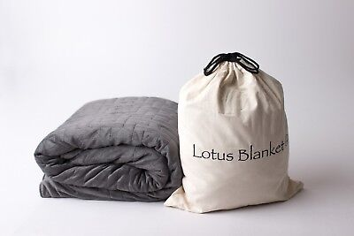 Lotus Weighted Blanket (2.2kg/3.2kg/4.5kg/6.8kg and Lapsize) with Minky Cover
