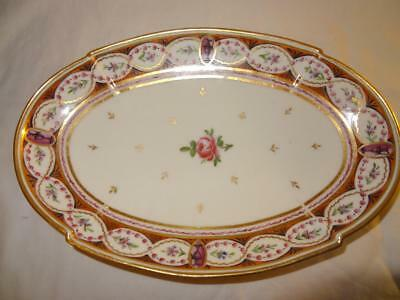 Early 19th Century Old Paris French Porcelain Oval Dish