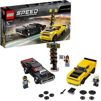LEGO Speed Champions 2018 Dodge Challenger SRT Demon and 1970  Charger R/T 75893