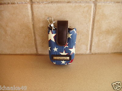 Longaberger American Starburst Cell Phone Wristlet Clip-On Carry Case Free Ship