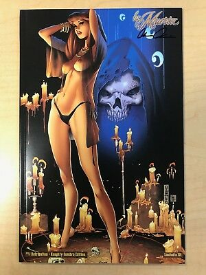 La Muerta Retribution #1 Naughty Sombra Variant Cover by Mike Debalfo Signed