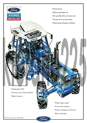 A3 Ford Tractor TW35 TW25 TW15 New Holland Cutaway Brochure Poster Leaflet