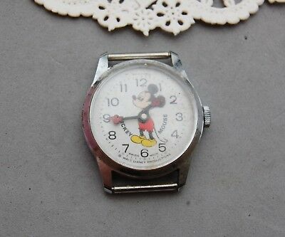 Mickey Mouse Walt Disney Productions Bradley Watch Manual Wind Vintage Runs
