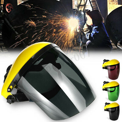 Clear Adjustable Welders Face Mask Shield Full Visor Safety Workwear Protection