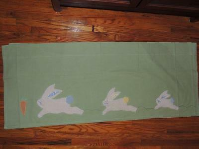 Pottery Barn Kids Carrot Patch Bunny Valances 44 X 18 Fluffy Rabbit Green