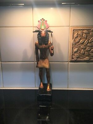 AGI Artisans Guild international Egyptian Statue God KHNUM, Gold Leaf, Kemetic