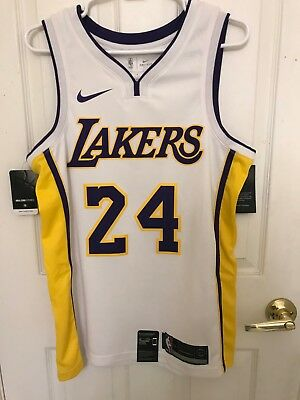 f72df8a61db Nike Los Angeles Lakers Jobe Bryant 24 Icon Authentic Jersey SZ M 44 AQ2106 -100