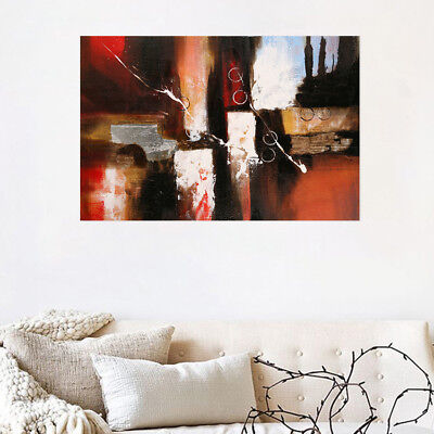 Framed Hand Painted Oil Painting Stretched Canvas Abstract Wall Art Home Decor